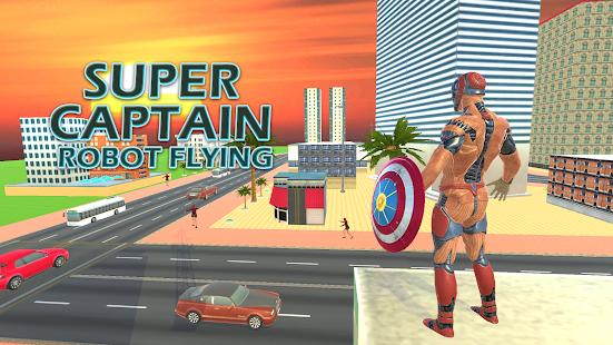 Superhero Captain Robot Flying Newyork City War for pc