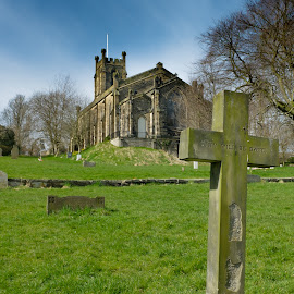 Thy Will Be Done by Darrell Evans - Buildings & Architecture Places of Worship ( remember, church, grass, trees, stone, grave, worship, burial, cross )