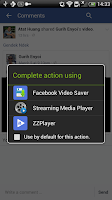 Screenshot of Video Saver for Facebook