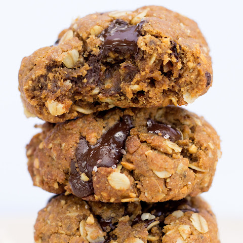 Chocolate Chunk Oatmeal Peanut Butter Cookies