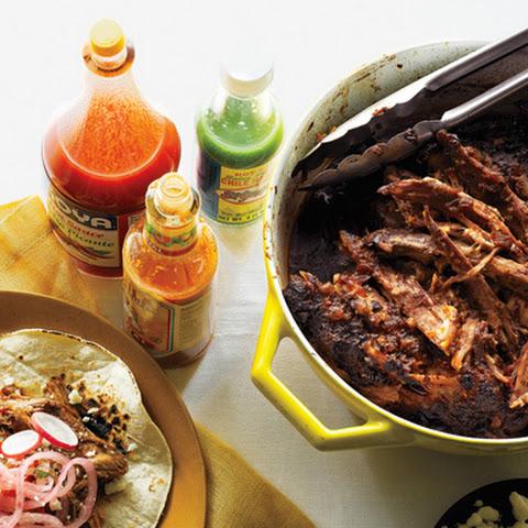 Overnight Oven-Braised Shredded Pork Tacos Recipes — Dishmaps