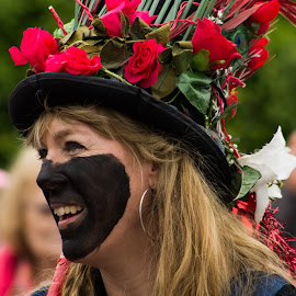 Dancer by Marc Steele - People Musicians & Entertainers ( countryside, uk, morris, wellow, may day, black pig border morris, rural, pig, country, england, bank holiday, nottinghamshire, event, dancer, black )