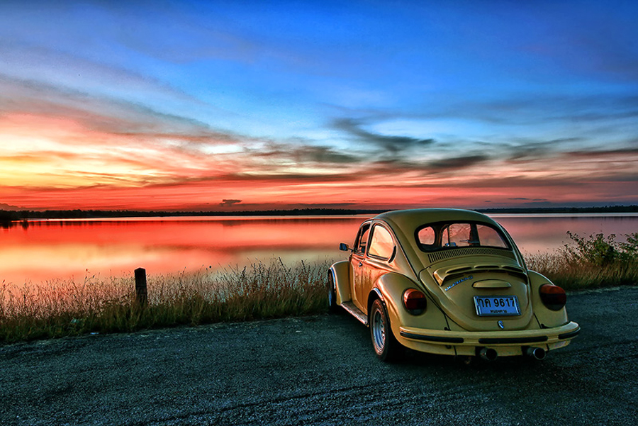 Volkswagen by Sarawut Intarob - Landscapes Waterscapes