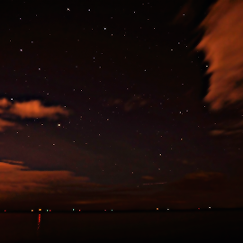 Red Stars by John Doe - Landscapes Cloud Formations ( #stars #clouds #nightshots #longexpousre #red )