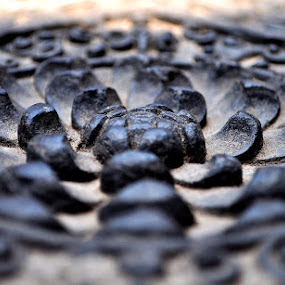 Carving on black stone by Saptarshi Mandal - Abstract Patterns ( pattern, art, stone, historical, black, flower )