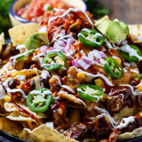 BBQ Steak Nachos