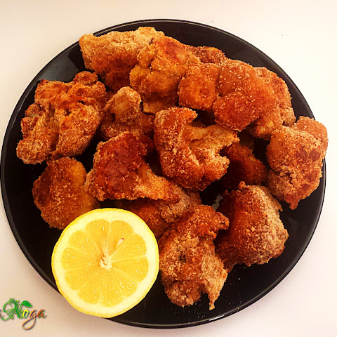 Low fat Vegan Breaded Cauliflower Chunks