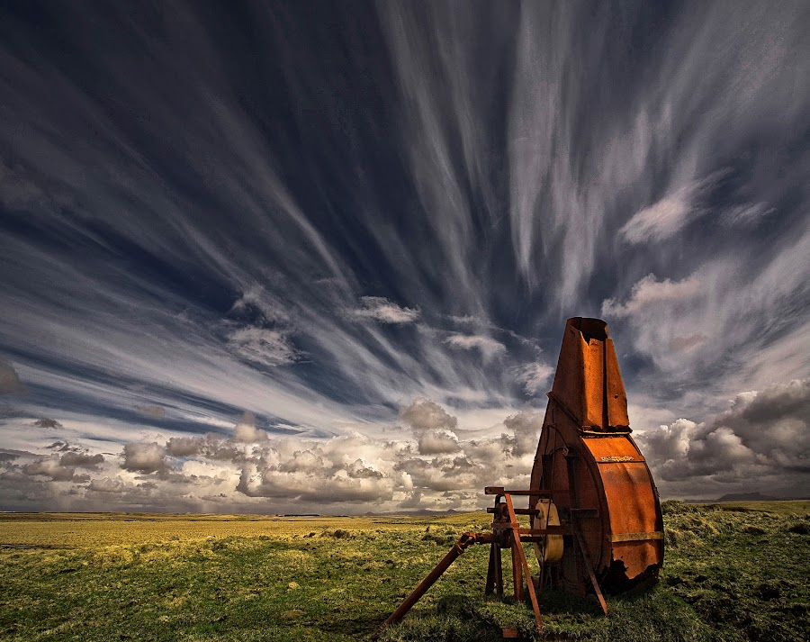 Used and Forgotten  by Þorsteinn H. Ingibergsson - Landscapes Cloud Formations ( clouds, iceland, sky, nature, structor, rusty, landscape )