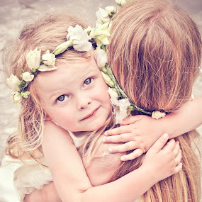wedding bridesmaids girls by Boštjan Vučak - Wedding Other ( bridesmaids, flowers on headbands, girls, dress, wedding )