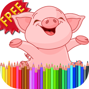 Coloring Book Piggy Pig