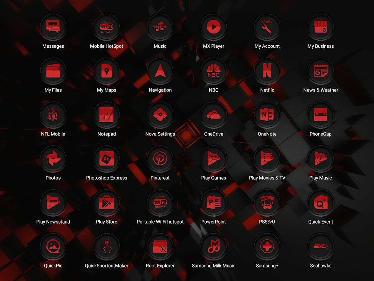 Jaron XE Red Icon Pack Screenshot 11