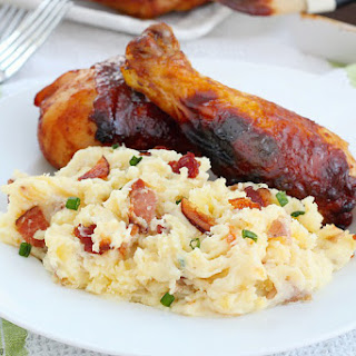 Twice Baked Cheese And Bacon Mashed Potato Casserole