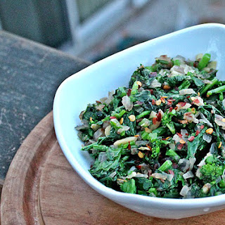 Sautéed Broccoli Rabe with Red Chili Flakes