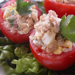 Tuna fish salad hard boiled egg recipes yummly for Tuna fish salad recipe with egg