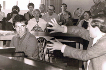 Teaching Iain Burnside (now one of Britain's finest Accompanists), Dartington, 1982 (1)
