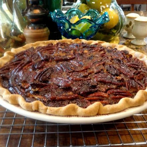 PECAN PIE WITH MOLASSES AND BOURBON -- BONNIE'S