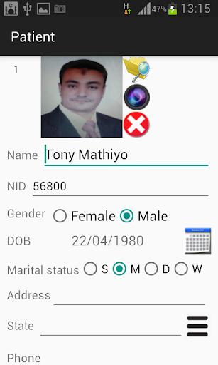 Electronic Medical Record EMR - screenshot
