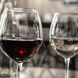 Red Wine World by Kimberly Sheppard - Food & Drink Alcohol & Drinks ( wine, selective color, red wine, white wine, wine glasses )