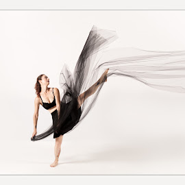 The Dancer by Kerri Garrison - People Musicians & Entertainers ( dancing, movement, modern dance, tulle, dancer )