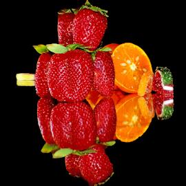 fruits eith candy by LADOCKi Elvira - Food & Drink Fruits & Vegetables ( orange, fruits )