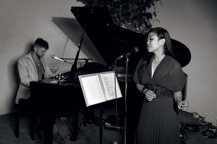 Nancy Whang from LCD Sound System, with Yosef Munro on piano