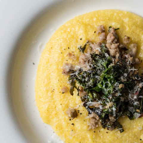 Polenta with Sausage and Beet Greens