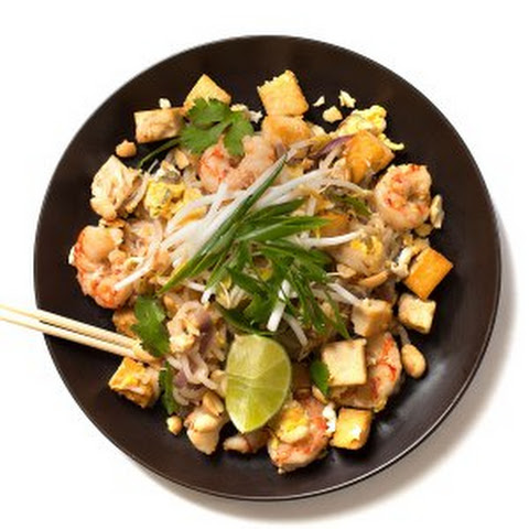 Shrimp Tofu Pad Thai Noodles