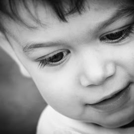 x look by Aaron Taylor - Babies & Children Children Candids ( black and white, candid, toddlers, toddler, eyes )