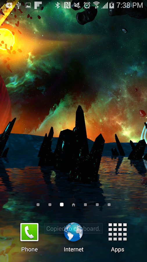Far Galaxy 3D Live Wallpaper Screenshot 3
