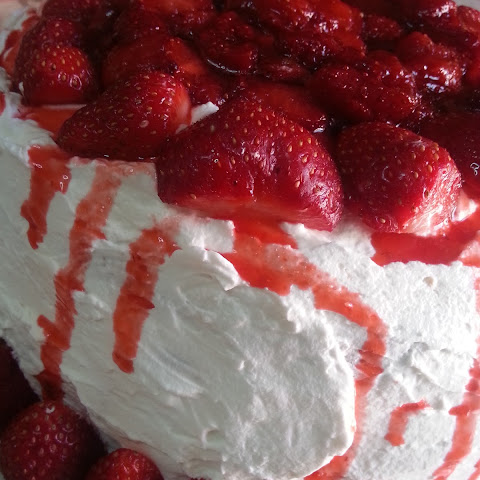 Strawberry Balsamic Cake