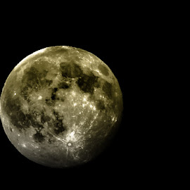 dark side of the moon by David Gilmour II - Nature Up Close Other Natural Objects ( moon, sky, craters, summer, night, telescope )