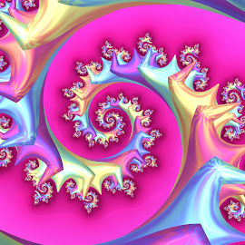 Spiral 7 by Cassy 67 - Illustration Abstract & Patterns ( abstract, pastel, swirl, wallpaper, spiral, digital, love, digital art, pink, harmony, fractal, fractals, energy )