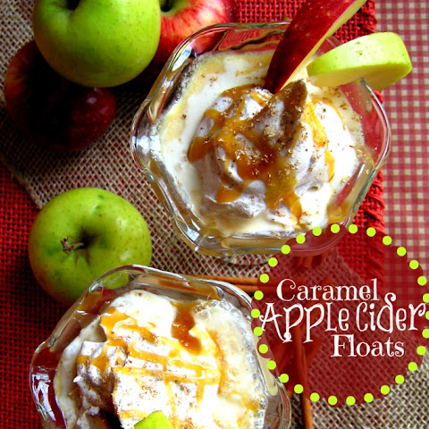 Caramel Apple Cider Floats