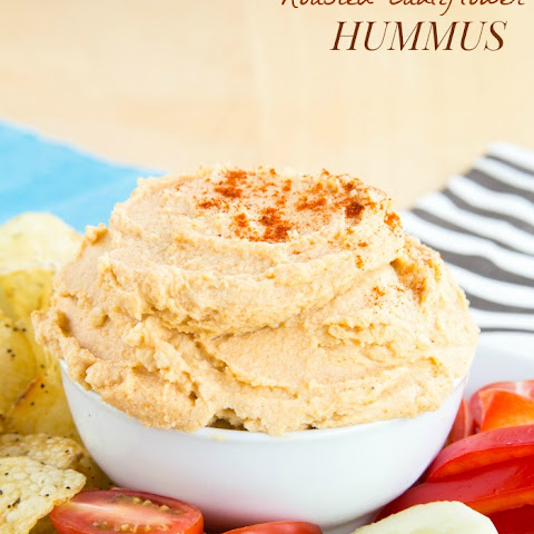 Smoky Cheddar and Roasted Cauliflower Hummus