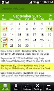 Free Download Buddhist Thai Calendar 2017 APK for Blackberry