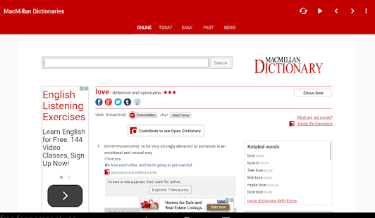 dictionary macmillan android