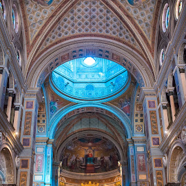 Rome, San Gioacchino in Prati by Photoxor AU - Buildings & Architecture Places of Worship ( kirche, interior, church, rome, kuppel, san gioacchino in prati )