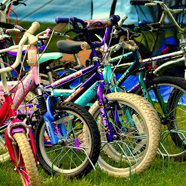 I want to ride my bicycles by Nic Scott - Transportation Bicycles ( bicycles, bikes, bicycle )