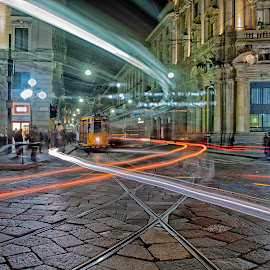 Milano by Giuseppe BeeBell - City,  Street & Park  Street Scenes