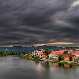 by Nejc Kostanjšek - City,  Street & Park  Vistas ( clouds, sunset, maribor, lent, city,  )