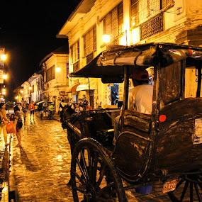 calle crisologo by Diofel Dagandan - City,  Street & Park  Street Scenes ( fine art, transportation, architecture, landscape, commercial )