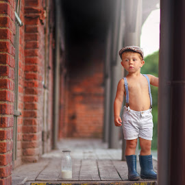 Old mill by Piotr Owczarzak - Babies & Children Children Candids ( mogilno, children, kids, boy, poland )