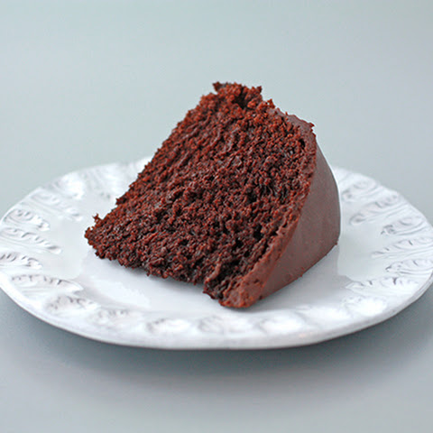 Egg-less Chocolate Cake With A Ganache Glaze