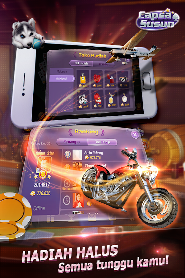 Capsa Susun(Free Poker Casino) Screenshot 3
