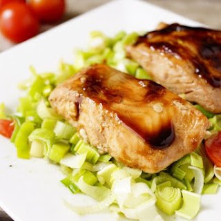 STIR FRIED TERIYAKI SALMON