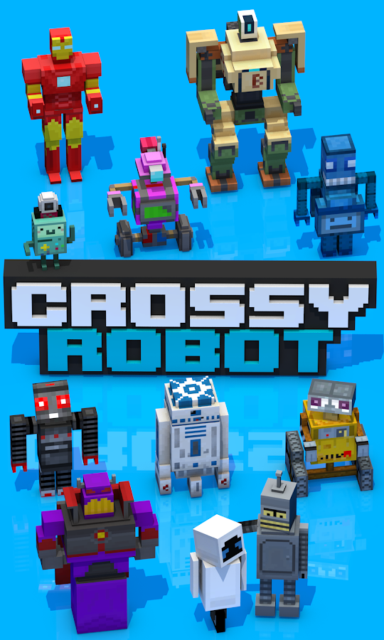 Crossy Robot : Combine Skins Screenshot 0