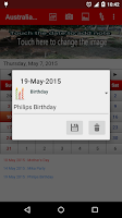 Screenshot of Australia Calendar 2015