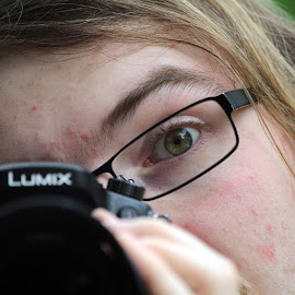 Camera Close Up by Kathryn Fenton - People Portraits of Men ( person, camera, photographer, shot, close up, photography, man,  )