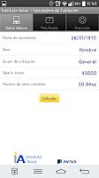 Screenshot of Calculadora de Jubilación