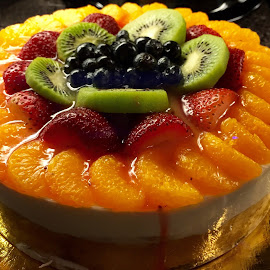 Cake with Fresh Fruits by Lope Piamonte Jr - Food & Drink Cooking & Baking